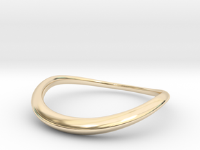 Wave Ring in 14k Gold Plated Brass