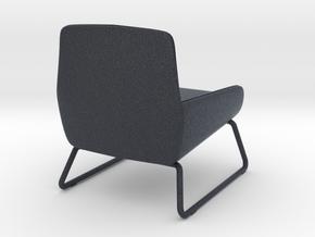 Miniature Fotel Coco Soft Line Chair - MOMA Studio in Black PA12: 1:12