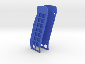 CZ Flat Cutaway grip (no holes) in Blue Processed Versatile Plastic
