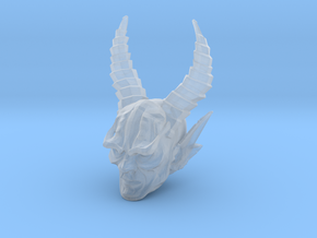 mythic demon head 3 in Smooth Fine Detail Plastic
