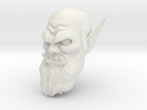 orc head 4 in White Natural Versatile Plastic