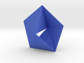 Equilateral Mobius strip in Blue Processed Versatile Plastic: Small