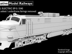 NEP504 N scale EP-5 loco - modified + guides in Smooth Fine Detail Plastic