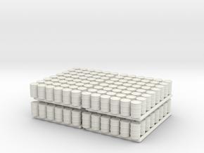 Barrel 01. HO Scale (1:87) in White Natural Versatile Plastic