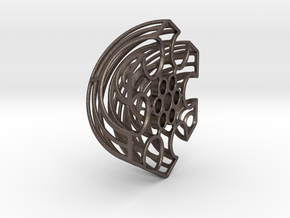 Wireframe Astrolabicon // Side B in Polished Bronzed-Silver Steel
