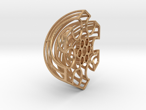 Wireframe Astrolabicon // Side B in Natural Bronze