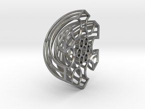 Wireframe Astrolabicon // Side B in Natural Silver