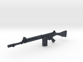 FN FAL 1:18 scale in Black Professional Plastic