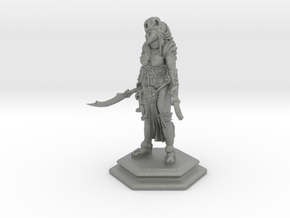 Female sword soldier 54mm in Gray PA12