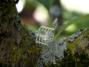 treble clef in Polished Silver: 8 / 56.75