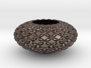 Bowl 1435 in Polished Bronzed-Silver Steel