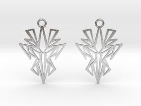 Dark symmetry earrings in Natural Silver: Small