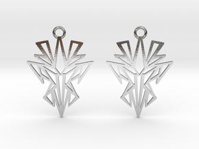 Dark symmetry earrings in Polished Silver: Small