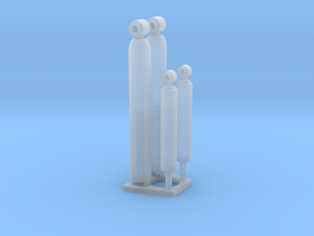 1/25 Rear Shock Absorbers 2up in Smooth Fine Detail Plastic