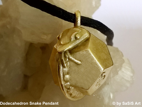 Dodecahedron Snake Pendant in Natural Bronze