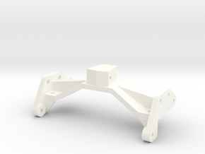 1/24 Rammunition Rear shock bracket in White Processed Versatile Plastic