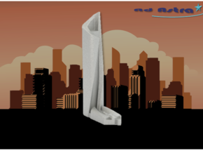 Al Hamra Tower - Kuwait City (1:4000) in White Natural Versatile Plastic