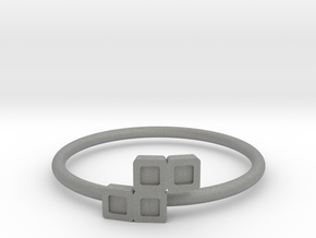 Block Puzzle Ring (Type-S) in Gray PA12