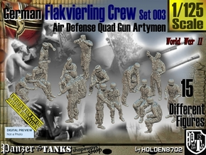 1/125 German Flak Crew Set 003 in Smooth Fine Detail Plastic