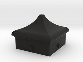 Signal Semaphore Finial (Square Cap) 1:19 scale in Black Natural Versatile Plastic