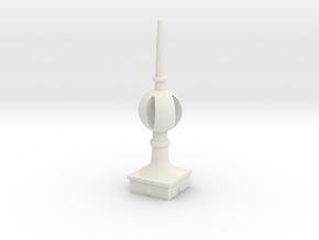 Signal Semaphore Finial (Open Ball) 1:19 scale in White Natural Versatile Plastic