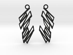 Zigzag earrings in Black Natural Versatile Plastic: Small