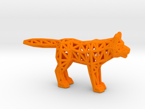 Gray Wolf (adult) in Orange Processed Versatile Plastic
