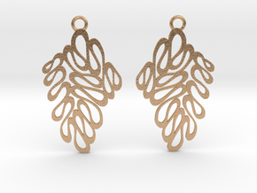 Wave earrings in Natural Bronze: Extra Small