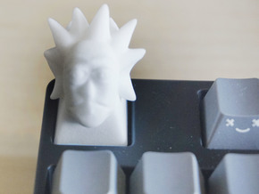 Rick Keycap for Cherry MX switches in White Natural Versatile Plastic