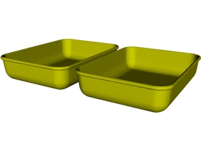 1/18 scale maintenance oil trays x 2 in Smooth Fine Detail Plastic