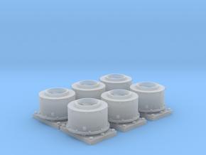 GP Series Round Spark Arrestor (HO - 1:87) 6X in Smoothest Fine Detail Plastic
