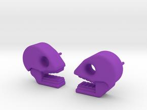 Mictlan earrings in Purple Processed Versatile Plastic