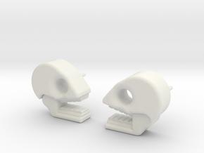 Mictlan earrings in White Premium Versatile Plastic