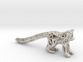 Ring Tailed Lemur in Platinum
