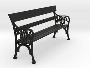Victorian Railways Station Bench Seat 1:19 Scale in Black Natural Versatile Plastic