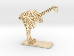 Ostrich (Young) in 14k Gold Plated Brass