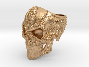 Skull Ring Personalized In Stainless Steel And Sil in Natural Bronze