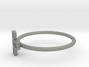 Block Puzzle Ring (Type-T2) in Gray Professional Plastic