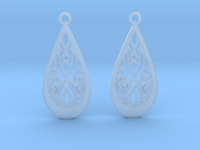 Elven earrings in Smooth Fine Detail Plastic: Small