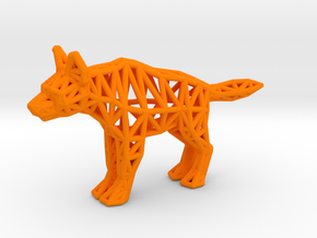 Striped Hyena (adult) in Orange Processed Versatile Plastic
