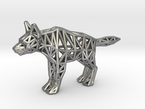Striped Hyena (adult) in Natural Silver