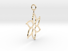 flower pendant in 14k Gold Plated Brass
