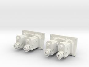 IFV .998 caliber cannons (2) in White Natural Versatile Plastic
