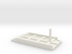 Model Railway Terminal Block Mount (22mm) in White Natural Versatile Plastic