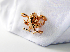 Octopus Cufflinks in 18k Gold Plated Brass