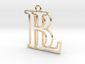 Monogram with initials B&L in 14K Yellow Gold