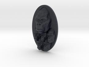 Gorilla Multi-Faced Caricature (002) in Black PA12