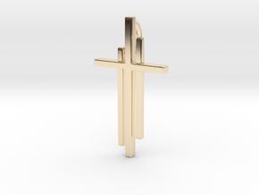 Calvary Cross Pendant - Christian Jewelry in 14K Yellow Gold