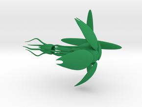 Vorlon Empire - Heavy Corvette (4.01 x / 3.1 y / 3 in Green Processed Versatile Plastic