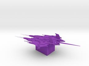 Centauri - Primus Battle Cruiser in Purple Processed Versatile Plastic